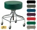 Clinton Industries Stool with Chrome Base and Square Footring