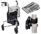 Drive Medical Deluxe 3 Wheel Steel Rollator