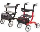 Drive Medical Nitro Aluminum Rollator with 10 inch Casters