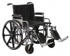 Drive Medical Sentra Extra Heavy Duty Wheelchair- 22 in. width