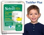 SELECT INCONTINENCE / PBE Select Disposable Briefs, Toddler Size
