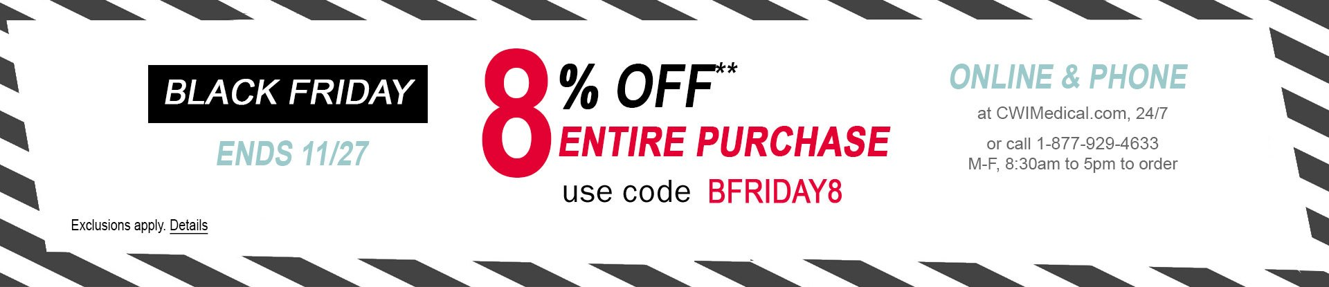 Black Friday Sale | 8% of your purchase with code BFRIDAY8 | Ends 11/27 at 11:59 PM ET