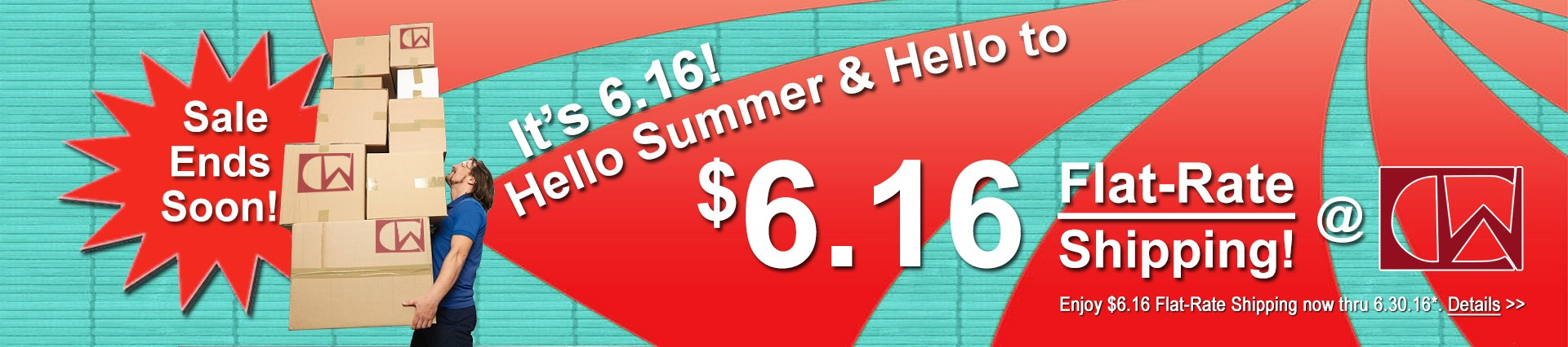 Enjoy $6.16 Flat Rate Shipping