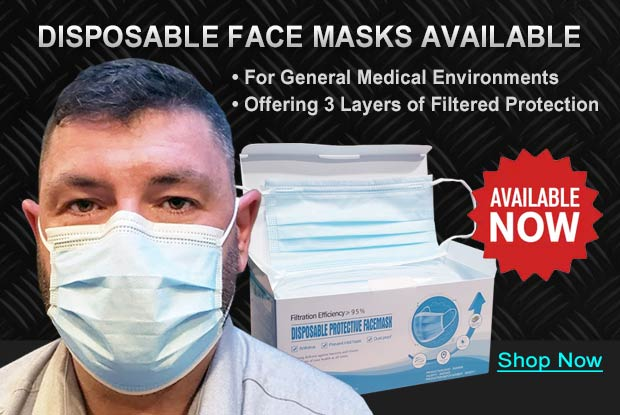 Disposable Face Masks Now Available