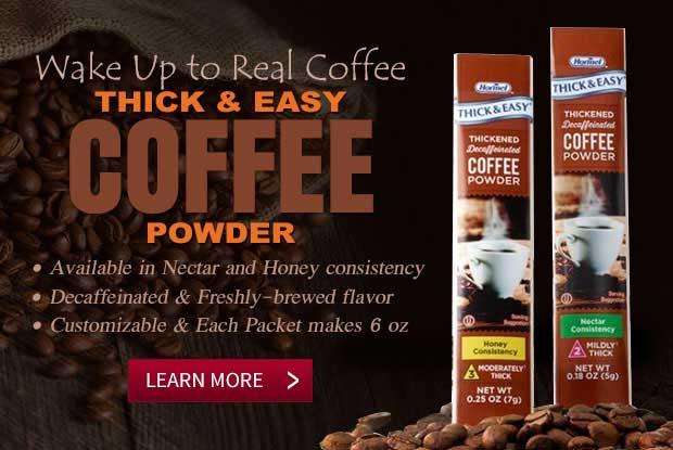 Thick & Easy Decaf Coffee Powder