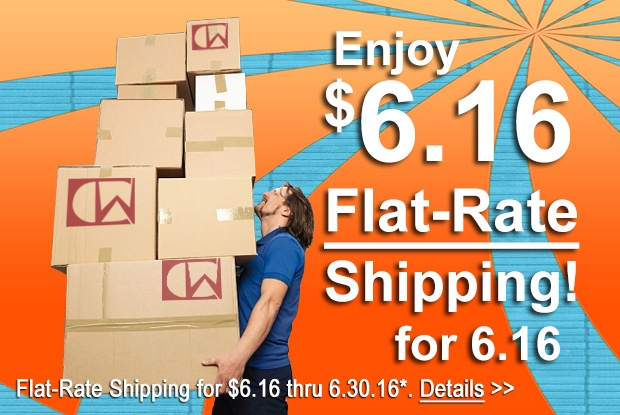 $6.16 Flat-Rate Shipping